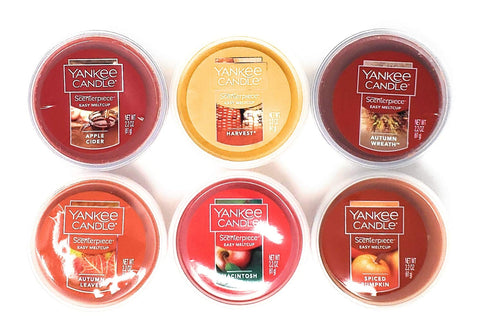 Yankee Candle 6 Piece Scenterpiece Easy Meltcup Autumn Collection Bundle With Orange Organza Gift Bag