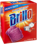 Brillo Heavy Duty Steel Wool Soap Pads, Large, 12 Count
