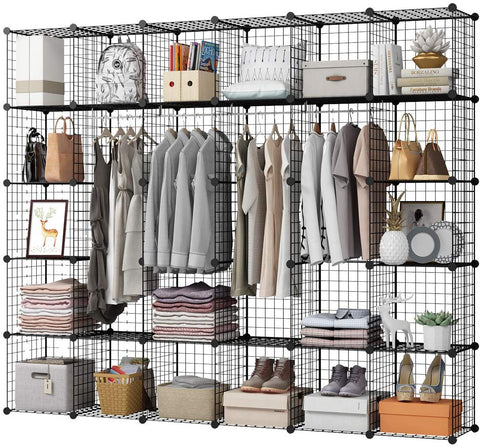 "Kousi 14""X14"" Cube Shelves Cubes Cloths Racks Cube Organizer Metal Storage Shelves Modular Storage Cubes"