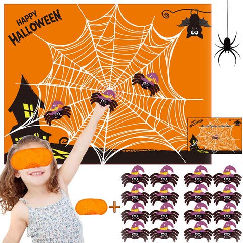 Funnlot Halloween Party Games For Kids Pin The Spider On The Web Game Halloween Party Favors And Games Halloween Halloween Party Games Activities Halloween Pin The Tail (Pin The Spider)