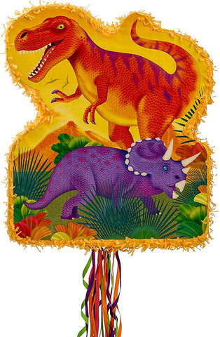 Ya Otta Pinata Pull String Prehistoric Dinosaurs Pinata, Birthday Party, 2Lb Filler Capacity, 20 3/4 X 17 3/4 Inches