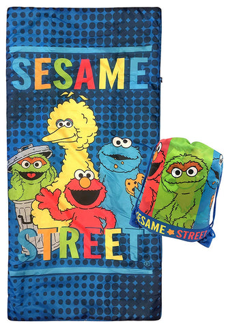 Jay Franco Sesame Street Slumber Sack - Cozy & Warm Kids Lightweight Slumber Bag/Sleeping Bag - Featuring Elmo, Cookie Monster, Big Bird, Oscar The Grouch (Official Sesame Street Product)