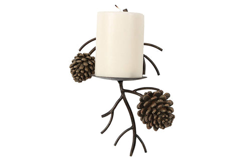 Pinecone Pine Cone Candle Wall Sconce Lodge Home Decor
