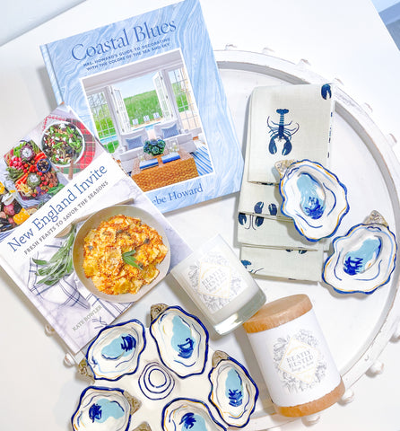 Oyster dishes and coffee table books