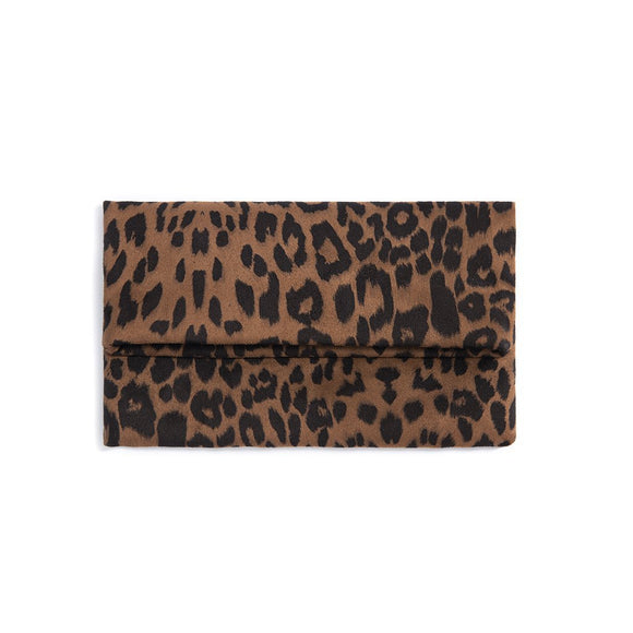 Tori Fold Clutch // Brown