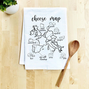 Cheese Map Dish Towel