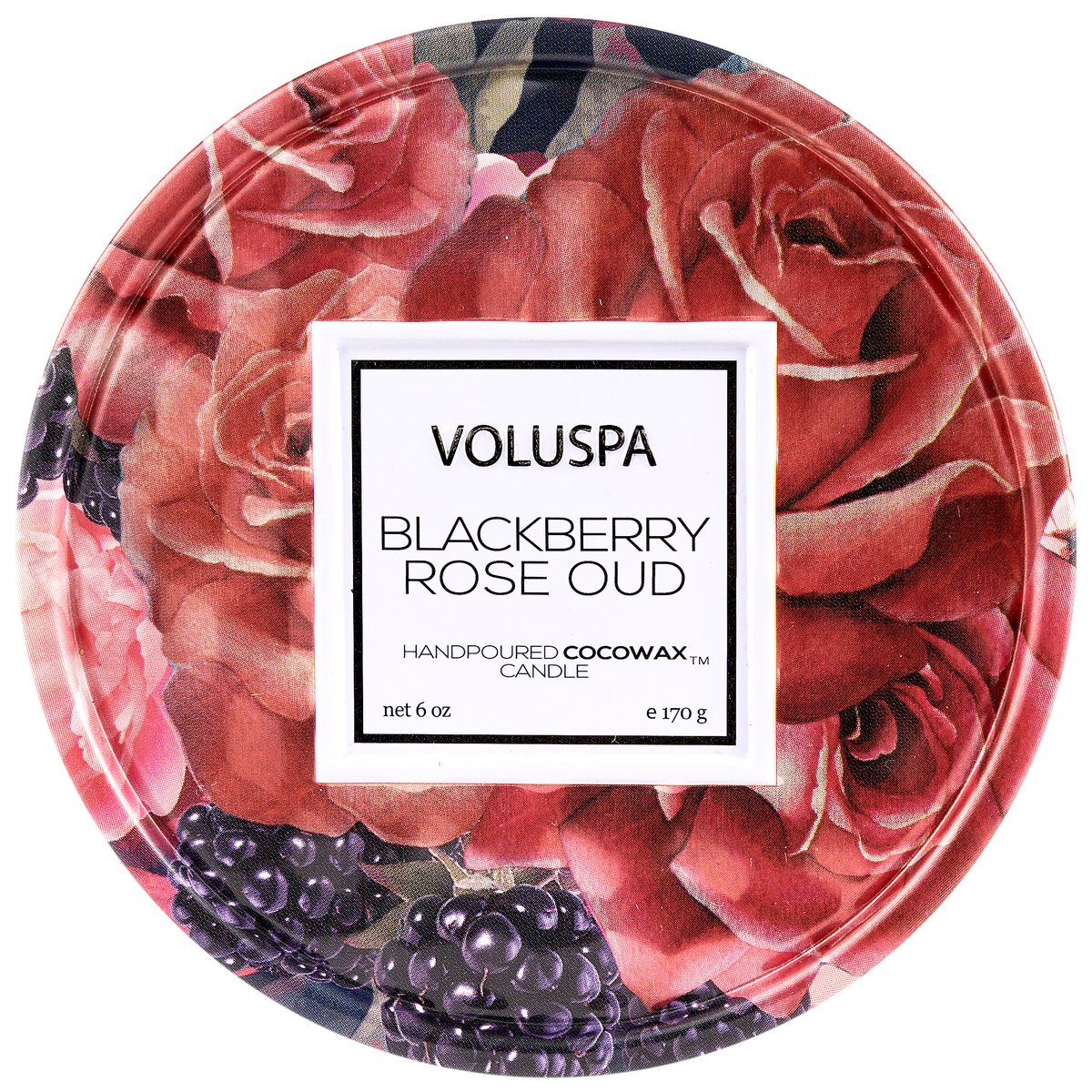 Blackberry Rose Oud 6oz Tin Candle
