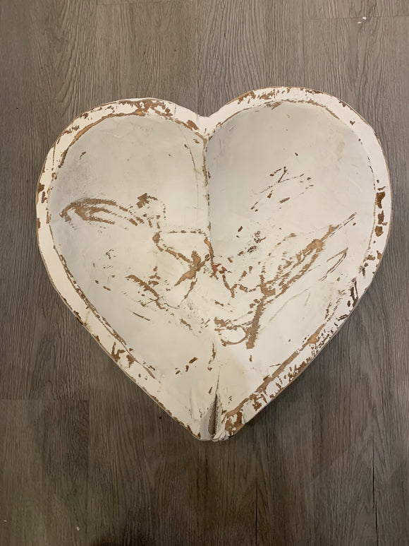 Large Heart Dough Bowl