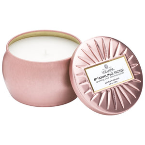 Sparkling Rose Mini Decorative Tin