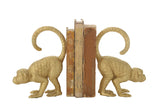 Gold Resin Monkey Bookends (Set of 2 Pieces)