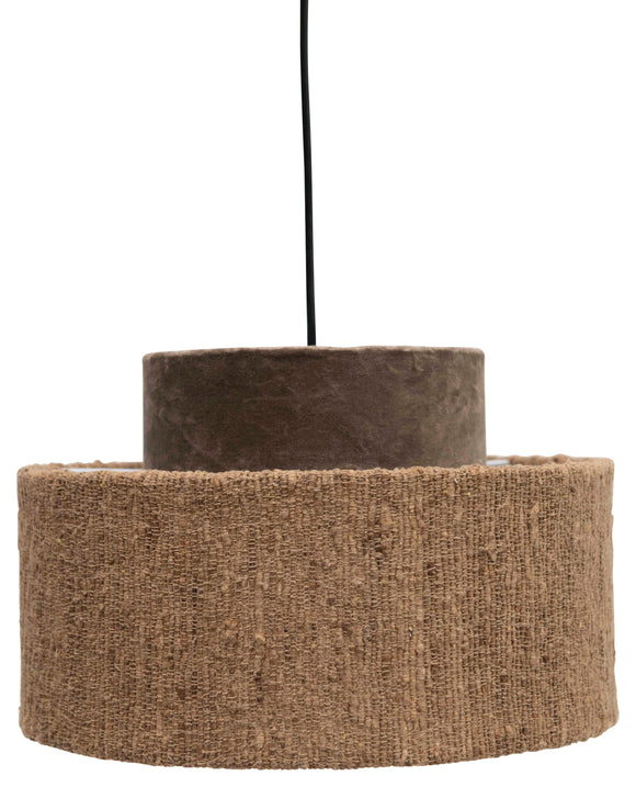 Cotton Velvet & Boucle Pendant Light with 6' Cord