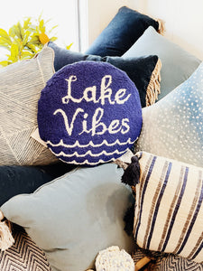 Lake Vibes Hook Pillow