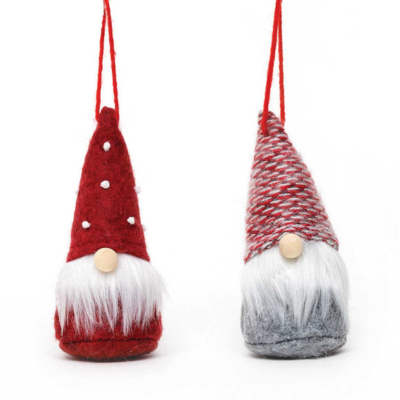Gnome Ornament - Red and Grey