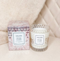Rose Colored Glasses Boxed Textured Glass Candle 6.5oz