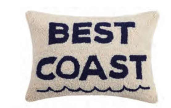 Best Coast Hook Pillow