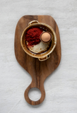 Teak Wood Cheese/Cutting Board with Round Handle