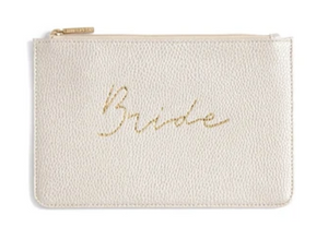 Bride Zip Pouch, Pearl