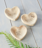 Wood Heart Trinket Tray