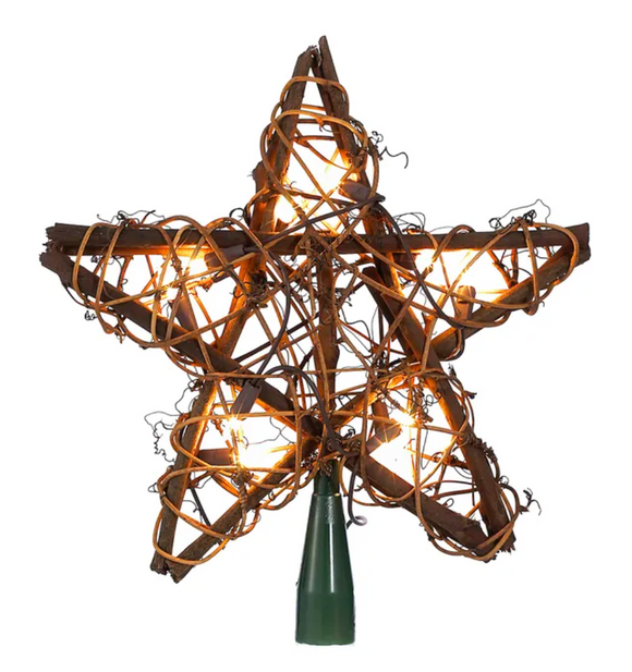 Rattan Natural Star Topper