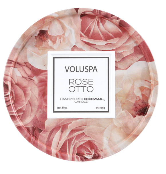 Rose Otto 6oz Tin Candle