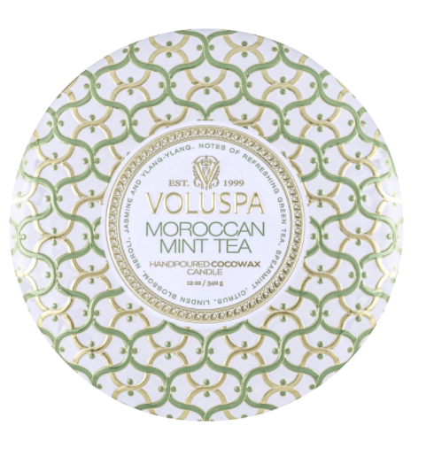 Moroccan Mint 12oz 3 Wick Tin Candle