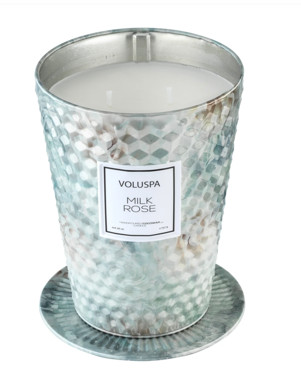 Milk Rose 2 Wick Table Tin Candle