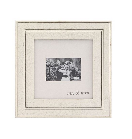 Mr. & Mrs. Wood and Linen Frame