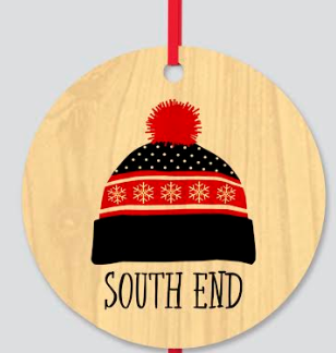South End Wood Christmas Ornament