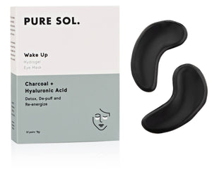 Wake Up Hydrogel Eye Patch Charcoal + Hyaluronic Acid