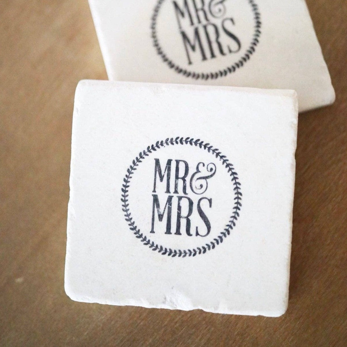 Engagement Marble Coaster Set of 2