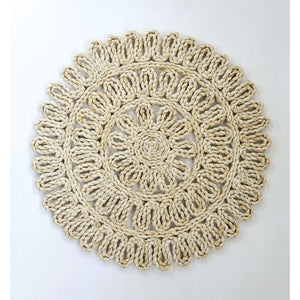 Round Woven Straw Placemat