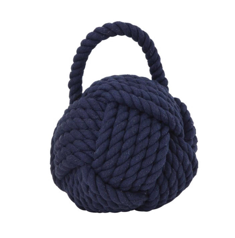 Navy Rope Knot Doorstop