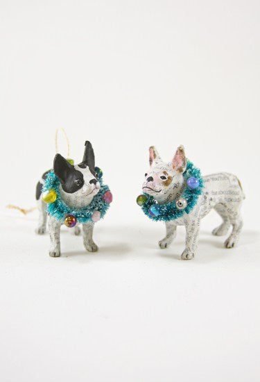 French Bulldog Ornament - two assorted