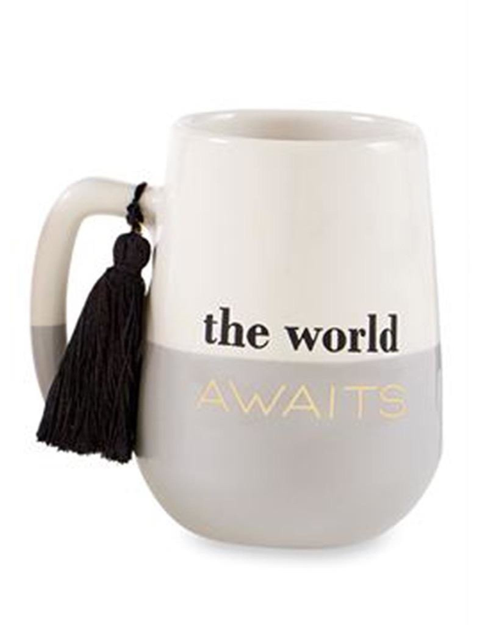 """The World Awaits"" Grad Dual Tone Mug"