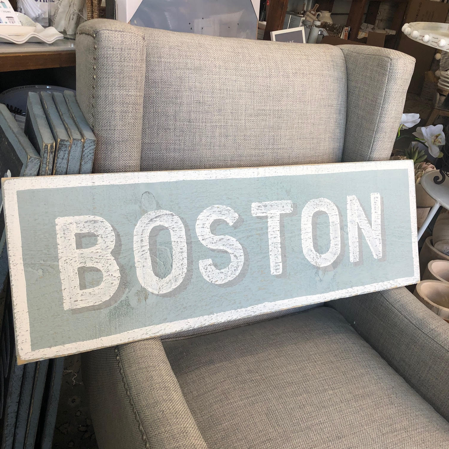 Boston Wood Sign - Assorted