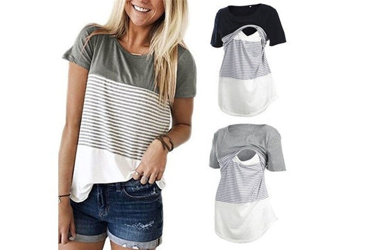 845556112a5 Women Maternity Breastfeeding Tee Nursing Tops – CJ Maternity Store