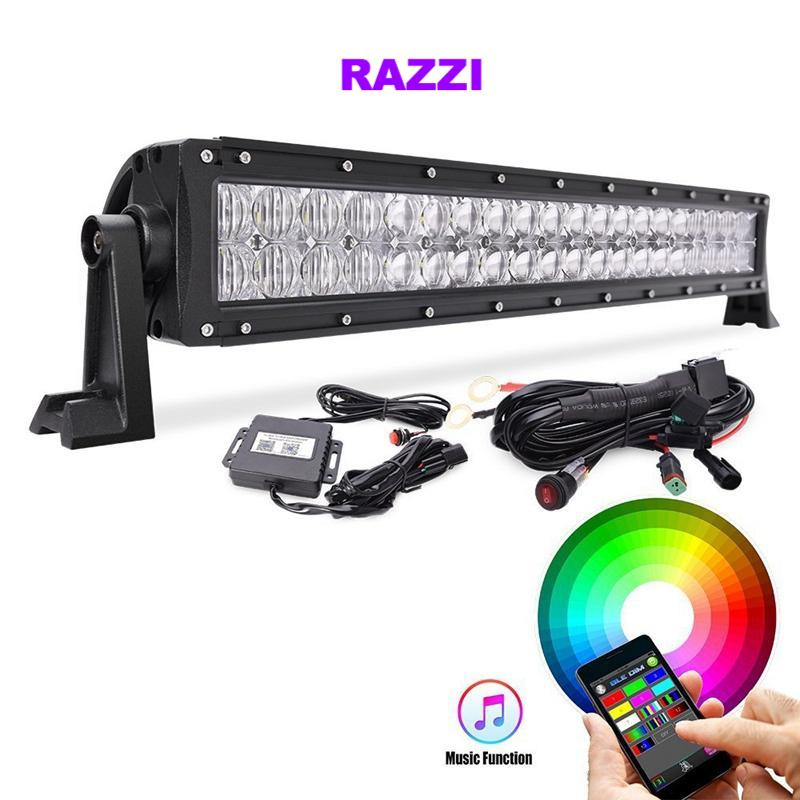 "22"" 5D LED Lightbar - RGB Multi-color feature (app controlled!)"
