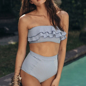 Paloma High Waist Ruffle Bikini Set