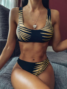 Golden Hour Crop Top Bikini