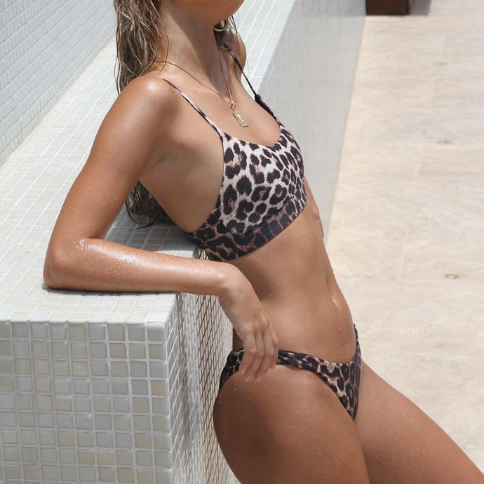 Leopard High Cut Bikini
