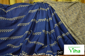Mulmul Cotton Saree With Pompoms