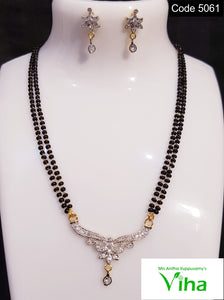 Black Beads Mangalsutra Set