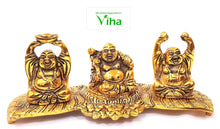 Laughing Buddha Statue - Brass