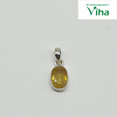 Yellow Sapphire Silver Pendant 2.5 g