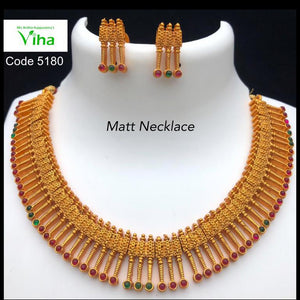 Multi Coloured Gold Neck Set
