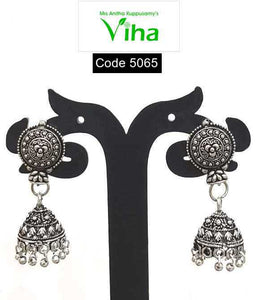 Black Metal Oxidised Jhumka