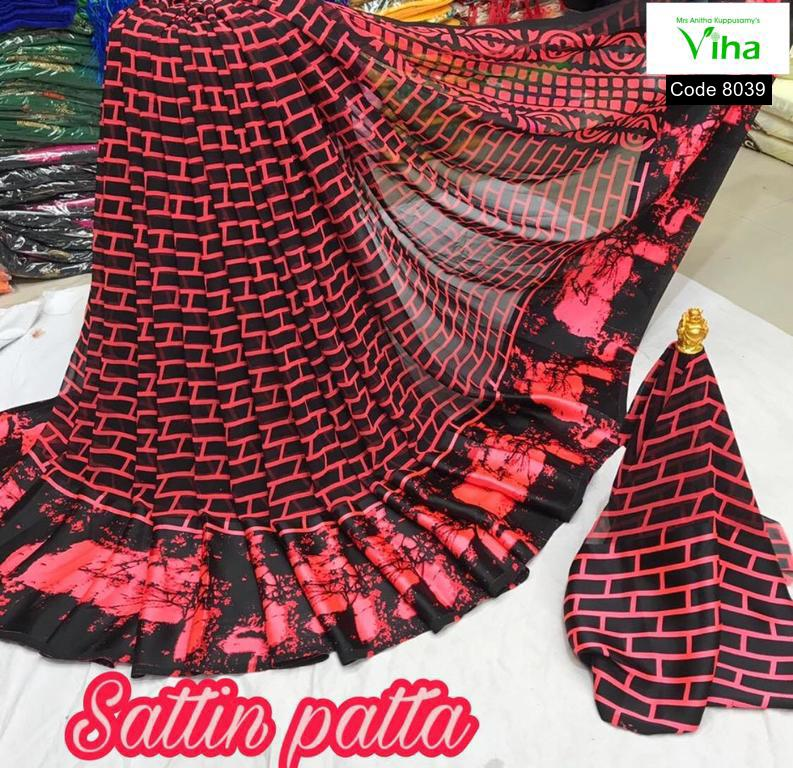 Georgette Saree With Sattin Border (inclusive of all taxes)