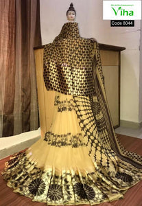 Georgette Saree With Sattin Border(inclusive of all taxes)
