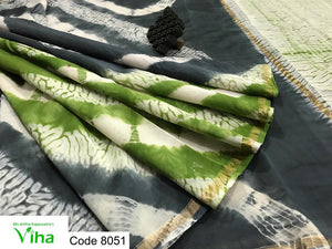 Shibori Chanderi Cotton Saree