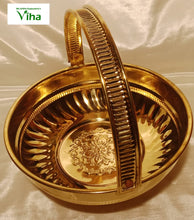 Brass Pooja Flower Basket